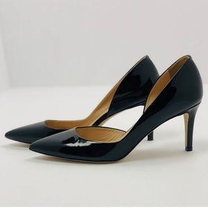 NEW! JCrew. Valentina patent leather d'orsay heel